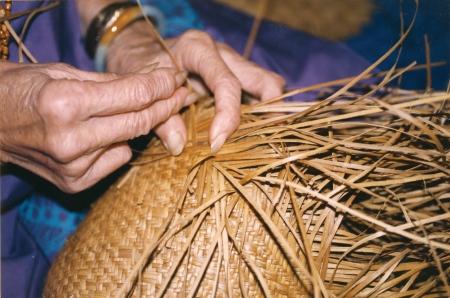 Hala weaving. Photo courtesy of Bishop Museum.
