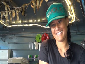 Andrea Werner-Gillum, chef at Kama Hele Cafe, a food truck in Hali'imaile. Photo by Kiaora Bohlool.