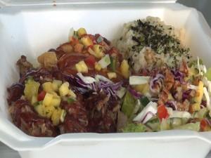 Hawaiian BBQ Plate from Kama Hele Food Truck in Hali'imaile. Photo by Kiaora Bohlool.