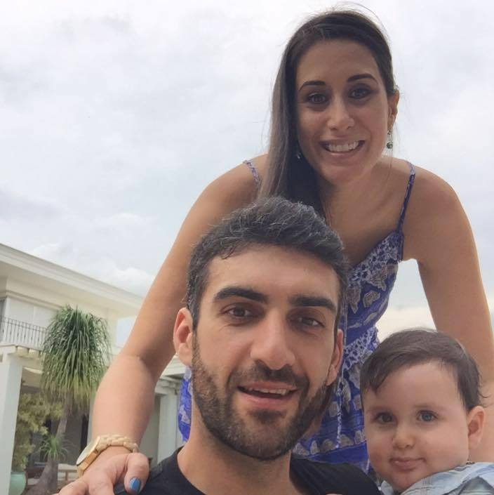Lily (Kahumoku) Olteanu with husband Bogdan and son Lucian in Brazil, where they currently reside. Family photo.