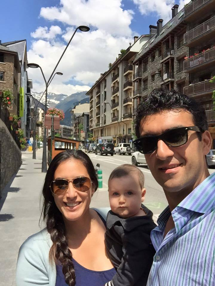 Lily (Kahumoku) Olteanu with son Lucian and husband Bogdan in La Massana, Andorra. Family photo.