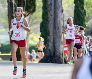 Seabury Hall's Victoria Winham was 15th overall and the MIL's second best finisher the girls division Saturday. Photo by Rodney S. Yap.