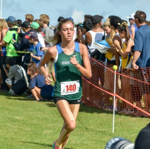 Maui Prep's Sophia Johnston finished 19th overall in the girls race Saturday. Photo by Rodney S. Yap.