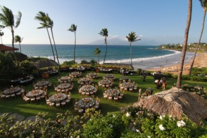 The tables are set and ready for A Taste of Hawai'i in 2015. Photo courtesy of The Kurt Suzuki Family Foundation.