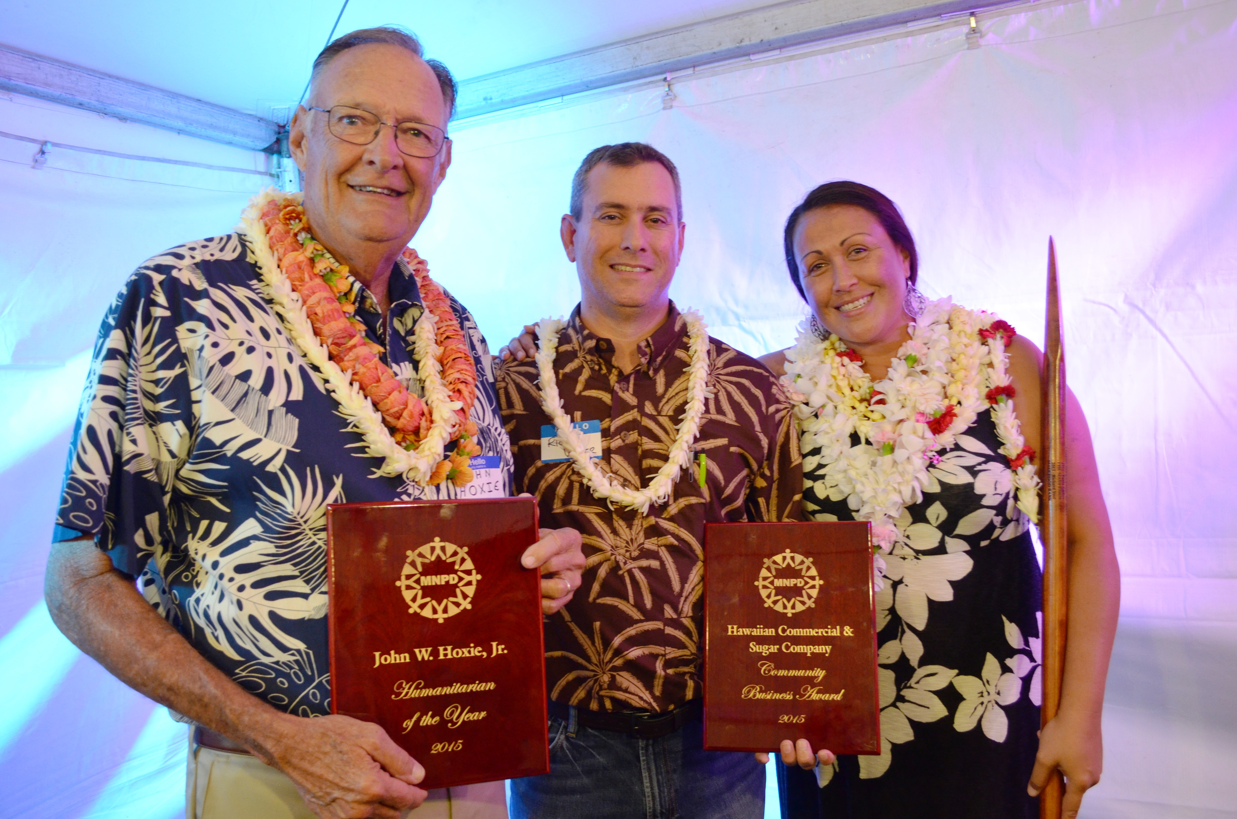The State of Hawai'i Department of Human Services, Division of Vocational Rehab, named HC&S Outstanding Employer of the Year in Maui County. HC&S photo.