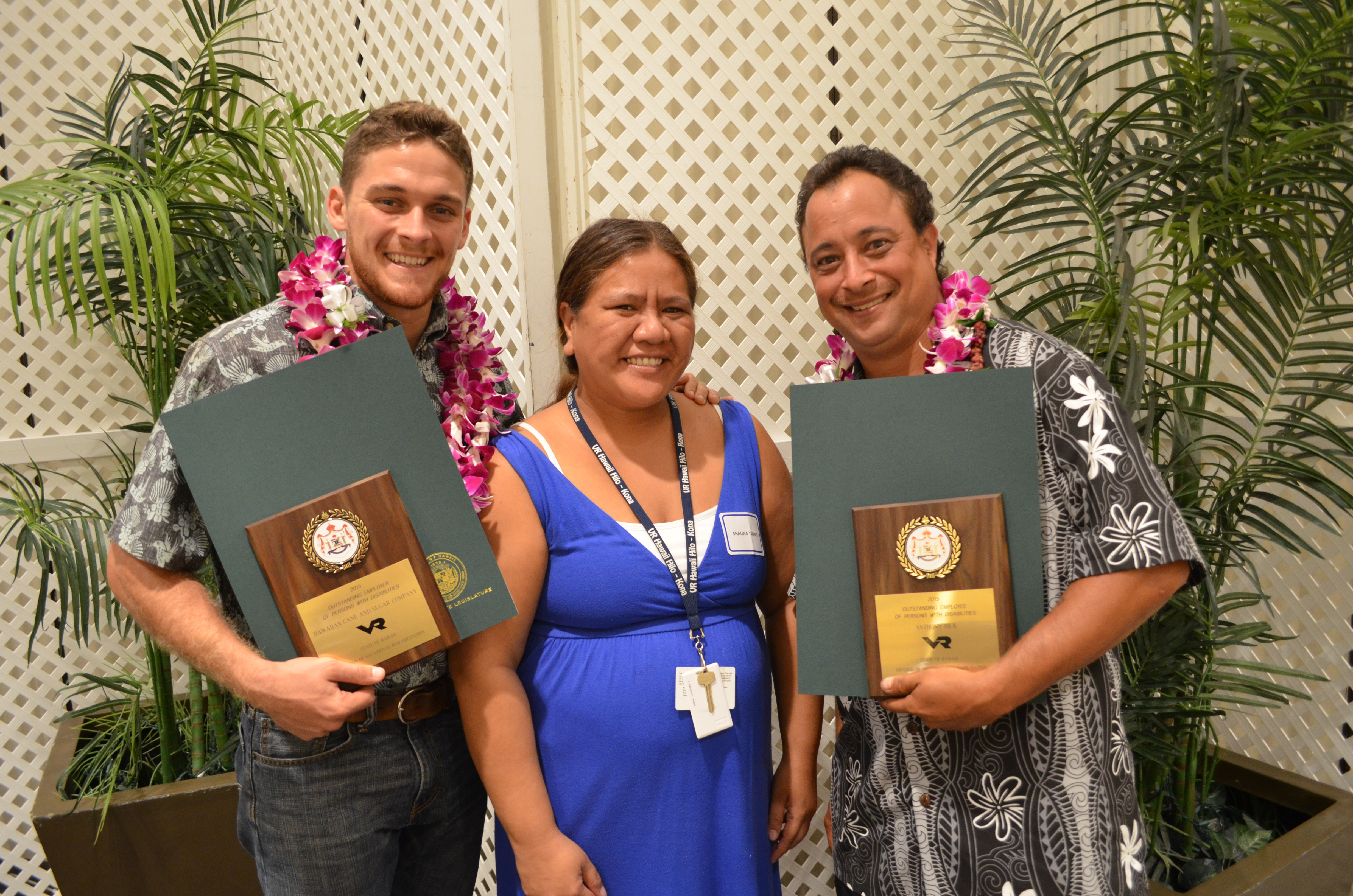 The Community Business Award was presented by the Maui Nonprofit Directors Association for HC&S' longstanding support of the Maui community. HC&S photo.