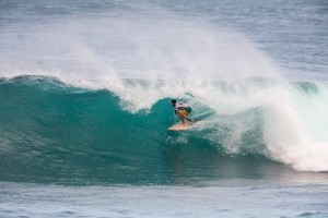 Billy Kemper of Maui rides in the final round of the HIC Pro at Sunset Beach. Photo courtesy of World Surf League (WSL).