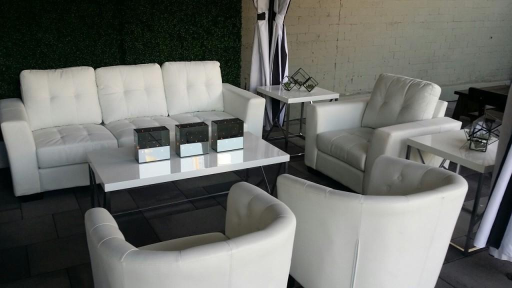 Capri sofa set. Photo credit: EventAccents.