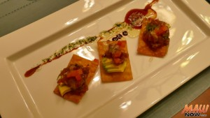 Poke appetizer made by Chef Allain de Leon from GotChefMaui.com. Photo by Kiaora Bohlool.