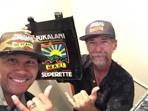 Emcee Kaleo Pilanca and soundman Steve Lanse.