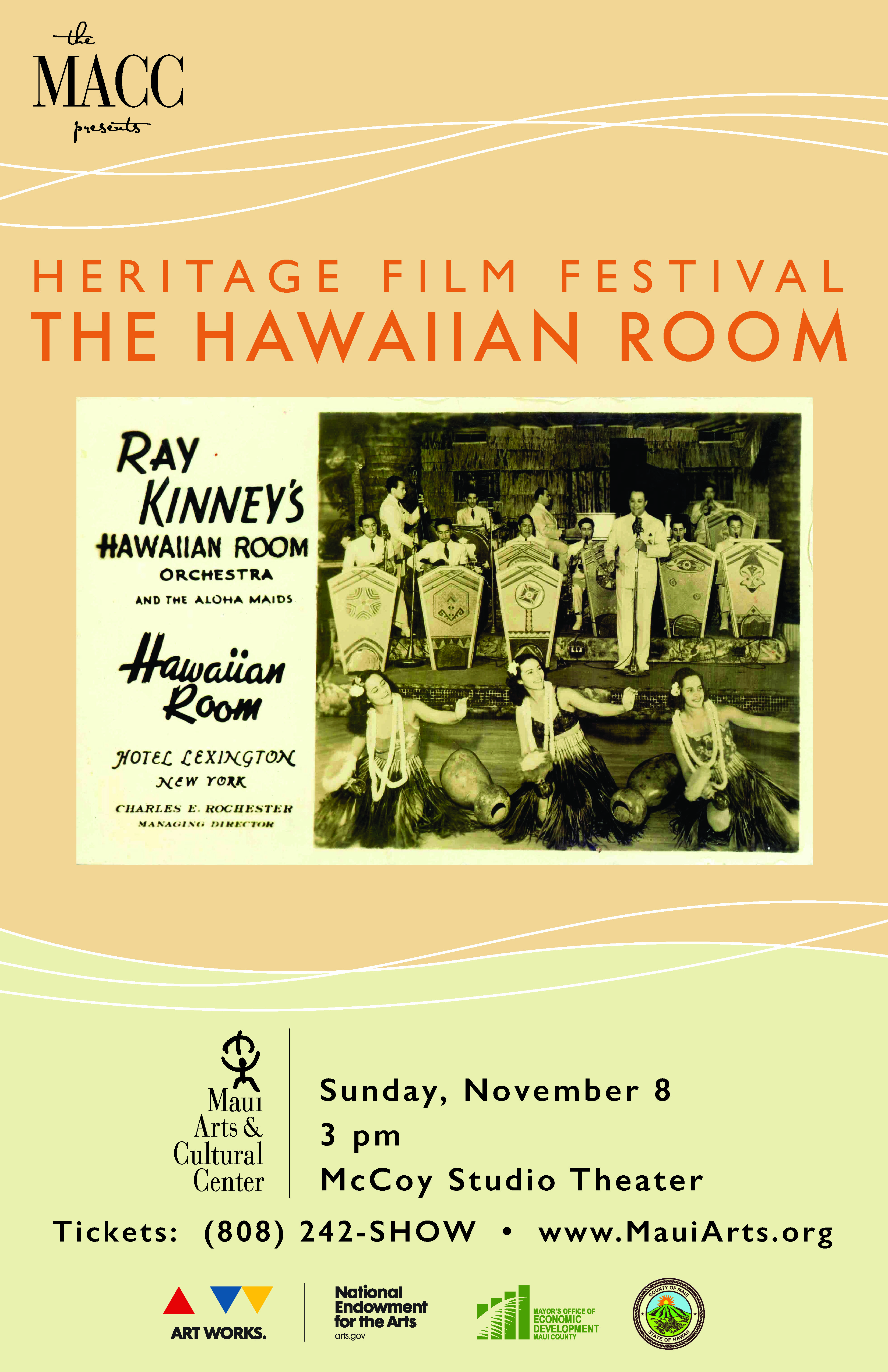 The Hawaiian Room poster, courtesy of The MACC.