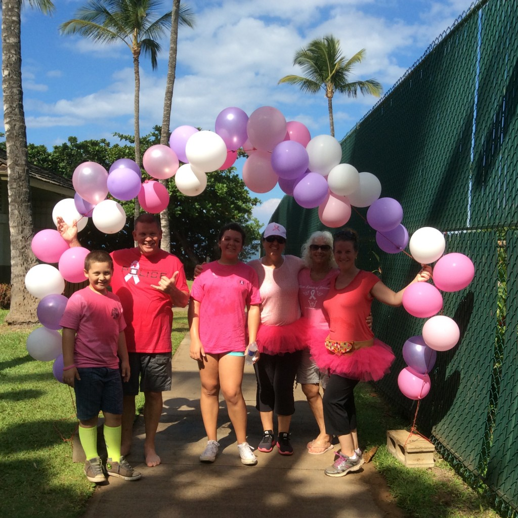 1st Annual Maui Spirit of Survival Walk Against Breast Cancer. Photo credit: Brian J. Burns.