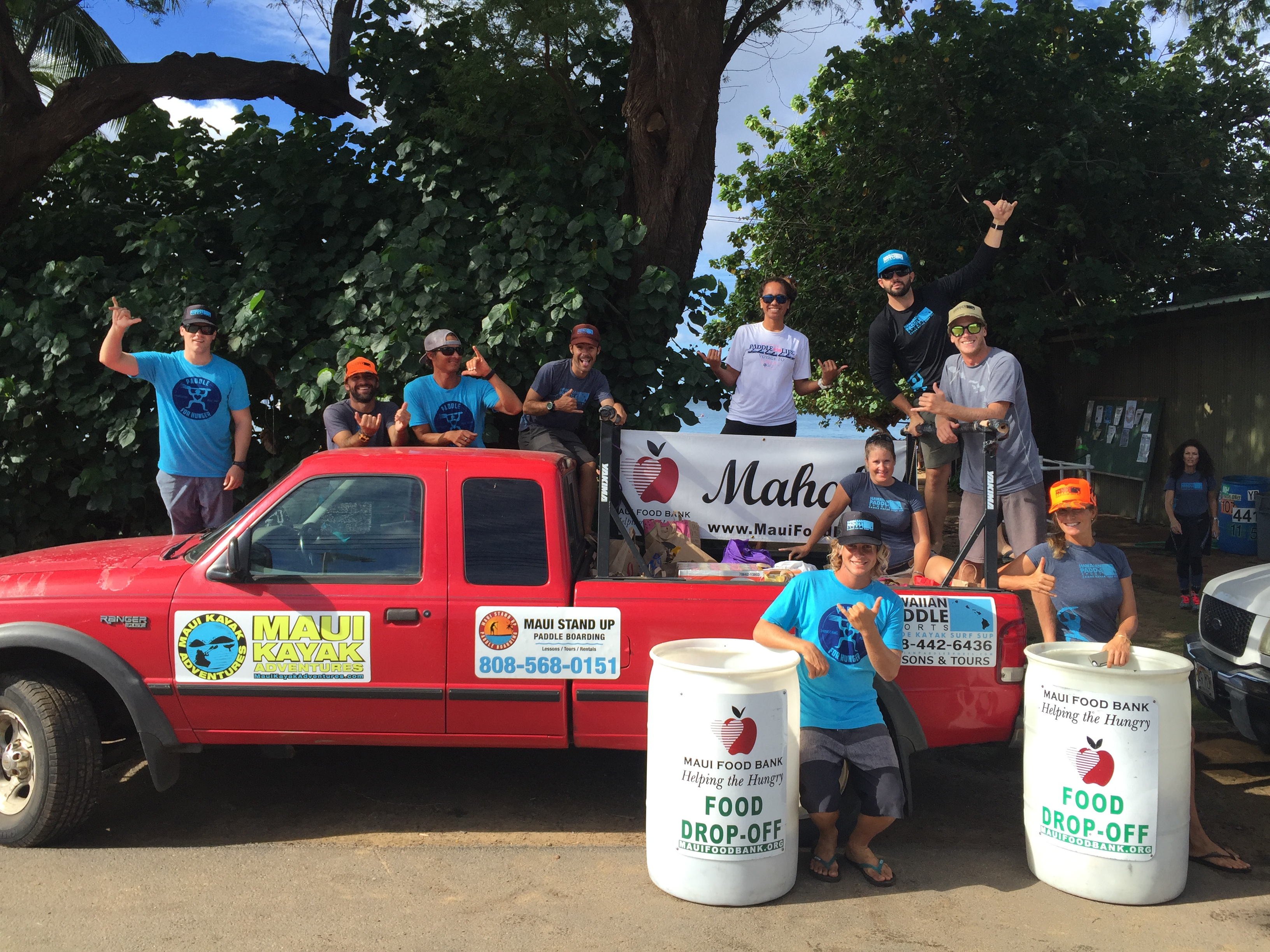 Paddle for Hunger. Photo credit: Hawaiian Paddle Sports.