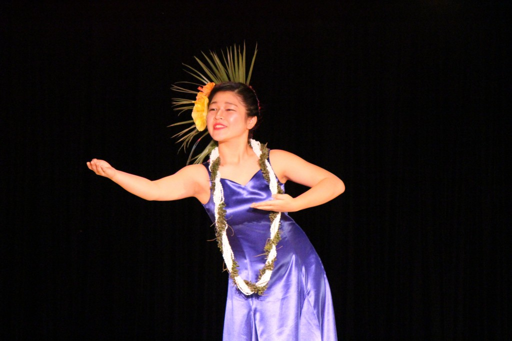 Rumi Uilani Aoki, Halau Keawahou from Niigata Japan. Photo by Wendy Osher.