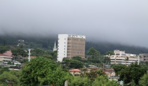 Wailuku socked in by clouds, Nov. 25, 2015. Photo by Wendy Osher.