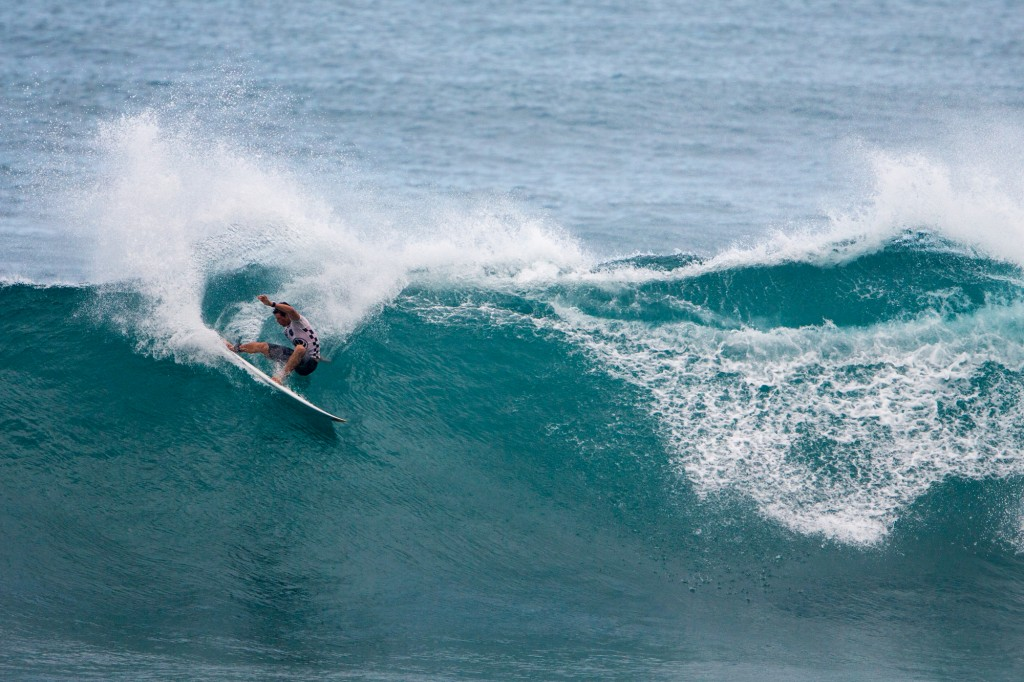 Surfer Ian Walsh from Maui competes in the 2015 HIC Pro. Photo courtesy of World Surf League (WSL).