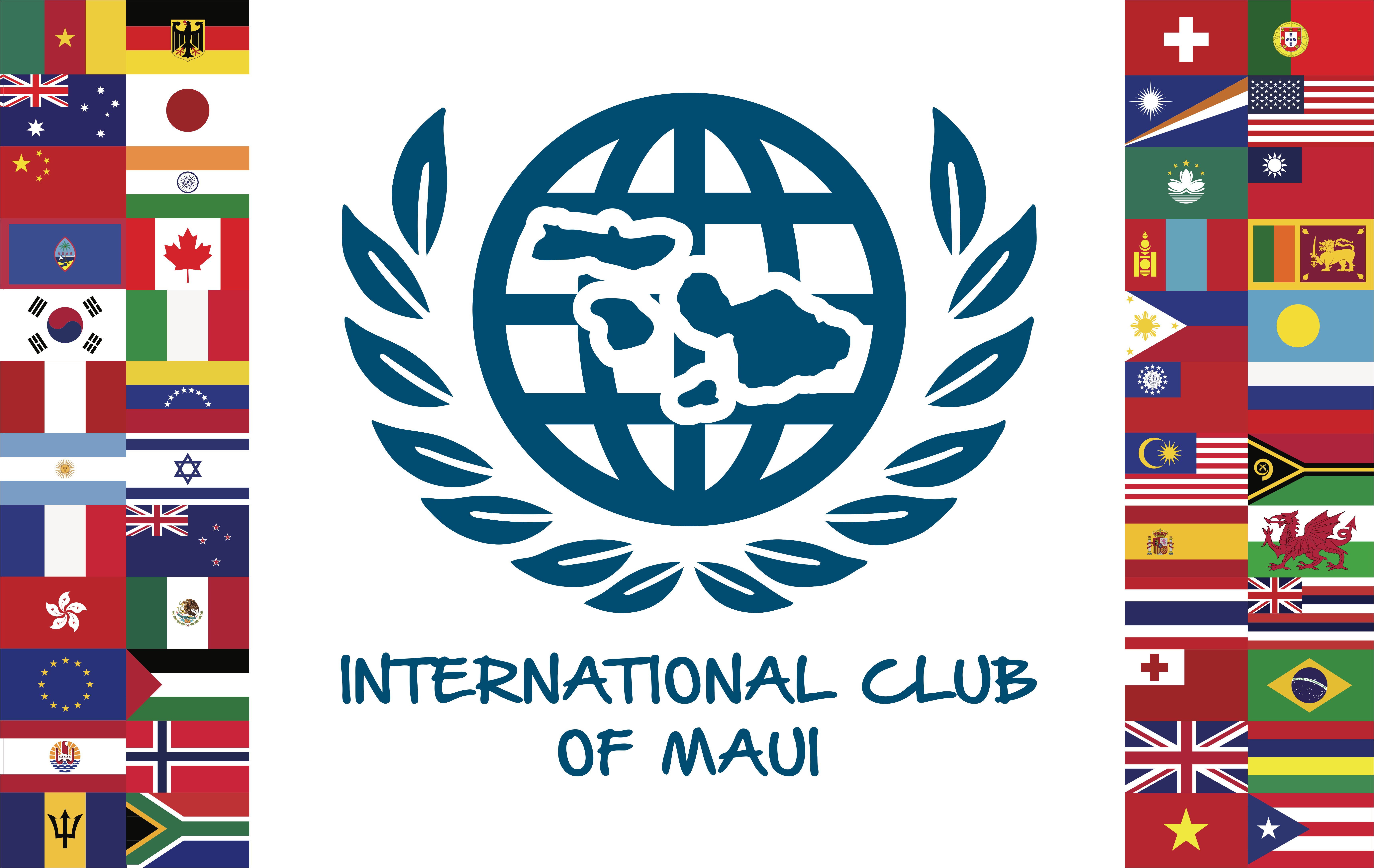 International Club maui Banner with Flags1