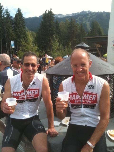 Karl Hagen and friend Steve after a ride. Photo courtesy Robin Hagen.