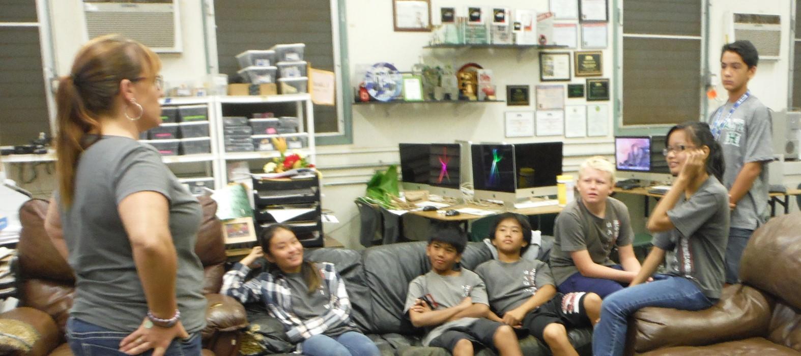Members of the Maui Waena Media and Technology Club. Maui Waena photo.