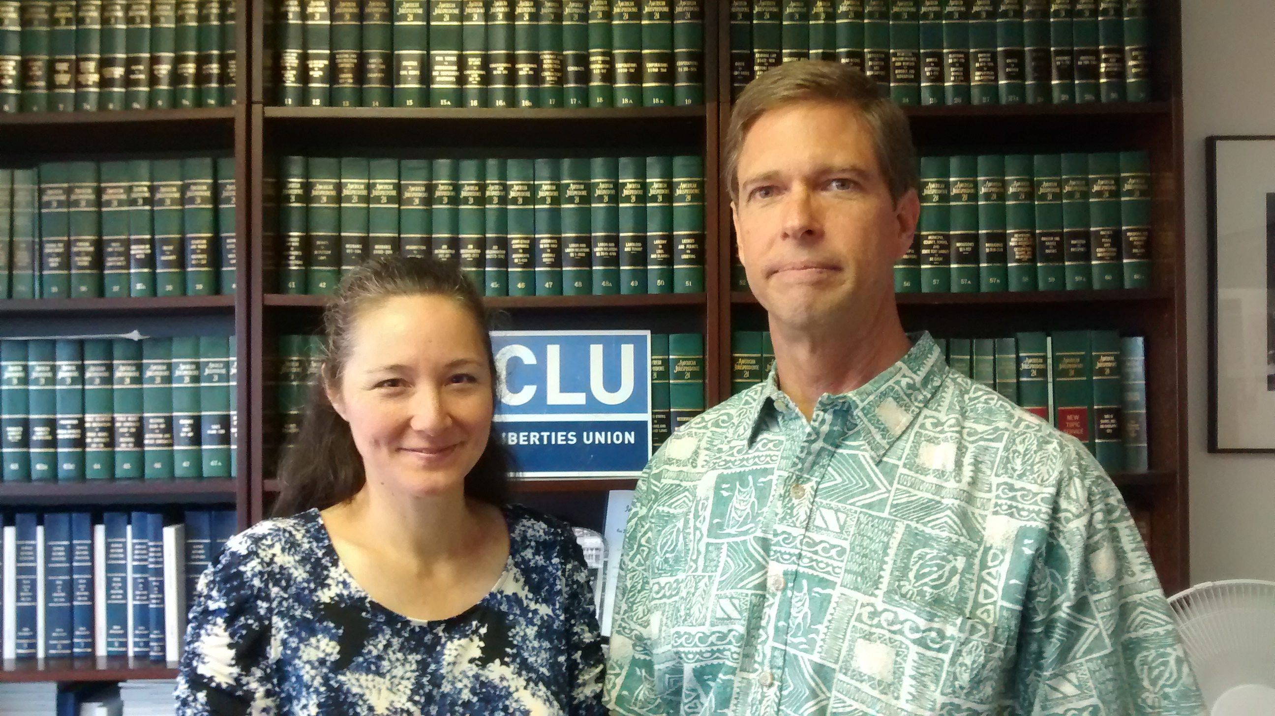 Pastor Strat Goodhue and his wife Doreen. Photo courtesy ACLU.