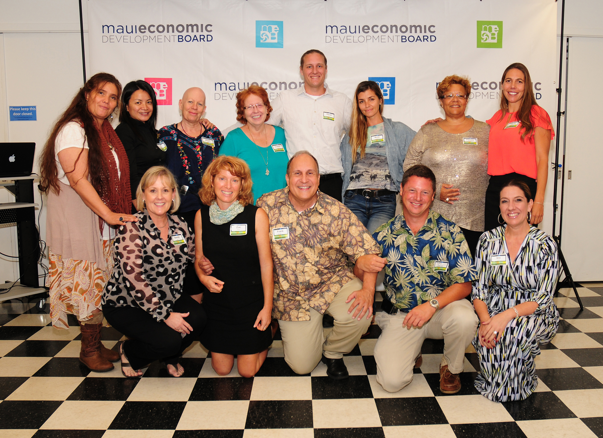 Maui's SBA InnovateHER Challenge finalists and supporters. MEDB photo.
