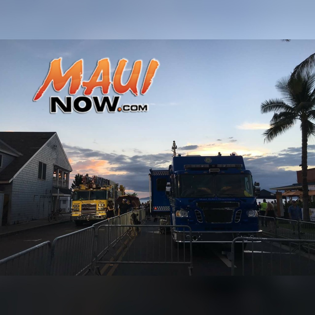Halloween in Lahaina 2015. Photo credit: Maui Police Department.