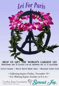 Lei for Paris event flyer.