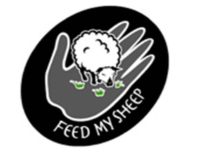 Feed My Sheep logo.