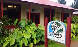 Canoes Lanai Restaurant is located on Dole Square. Photo courtesy of Lanai Visitors Bureau.