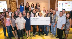 Hawai'i Food & Wine Festival presents a record level of donations to local nonprofit groups.