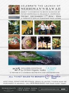 Flyer for Merriman's cookbook release party. Courtesy of Merriman's Hawai'i.