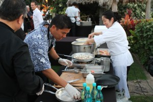 Kurt Suzuki at A Taste of Hawai'i 2015. Photo courtesy of The Kurt Suzuki Family Foundation.