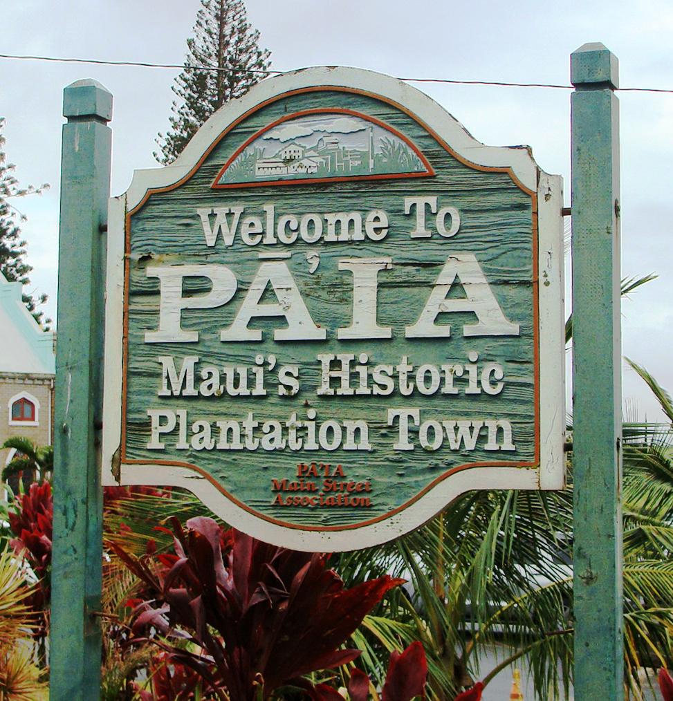 Pāʻia sign. Photo by Wendy Osher.