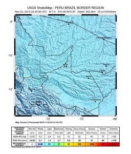 Peru earthquake 11/24/15.  Image credit: USGS.