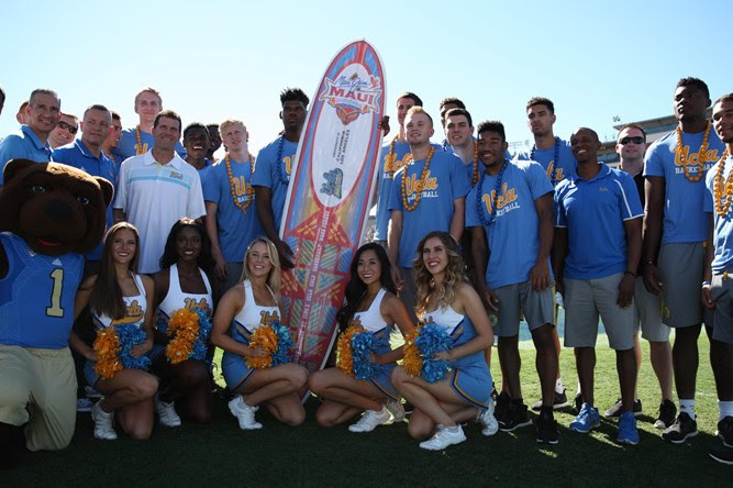 Visit with UCLA at the Rose Bowl. Photo credit: Maui Jim Maui Invitational.
