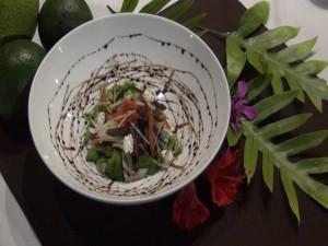 Local salad at The Preserve Kitchen + Bar, part of the new menu at Travaasa Hana. Photo by Kiaora Bohlool.