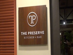 New sign featuring The Preserve Kitchen + Bar in Travaasa Hana. Photo by Kiaora Bohlool.