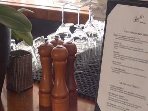 Dessert menu on the bar at Longhi's in Lahaina. Photo by Kiaora Bohlool.