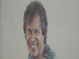 Painting of Longhi's founder, Bob Longhi. Photo by Kiaora Bohlool.