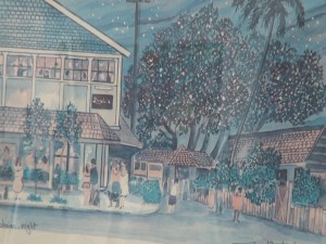 Painting of Longhi's on Front Street in Lahaina. Photo by Kiaora Bohlool.