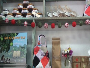 Local gifts in the boutique corner at Belle Surf Café. Photo by Kiaora Bohlool.