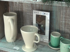 Local gifts for sale at Belle Surf Café. Photo by Kiaora Bohlool.