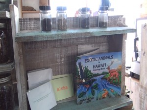 Local gifts on the shelf at Belle Surf Café in Kihei. Photo by Kiaora Bohlool.