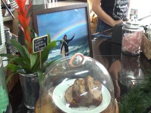 Banana bread at Belle Surf Café. Photo by Kiaora Bohlool.