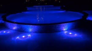 Nighttime fountain at Honua Kai Resort & Spa. Photo by Kiaora Bohlool.