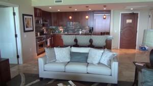 Living room in a suite at Honua Kai Resort & Spa. Photo by Kiaora Bohlool.