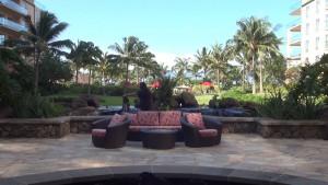 Outdoor lounge area at Honua Kai Resort & Spa. Photo by Kiaora Bohlool.