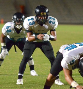 In all, King Kekaulike will have 26 football coaches working with both the junior varsity and varsity programs. File photo by Rodney S. Yap.