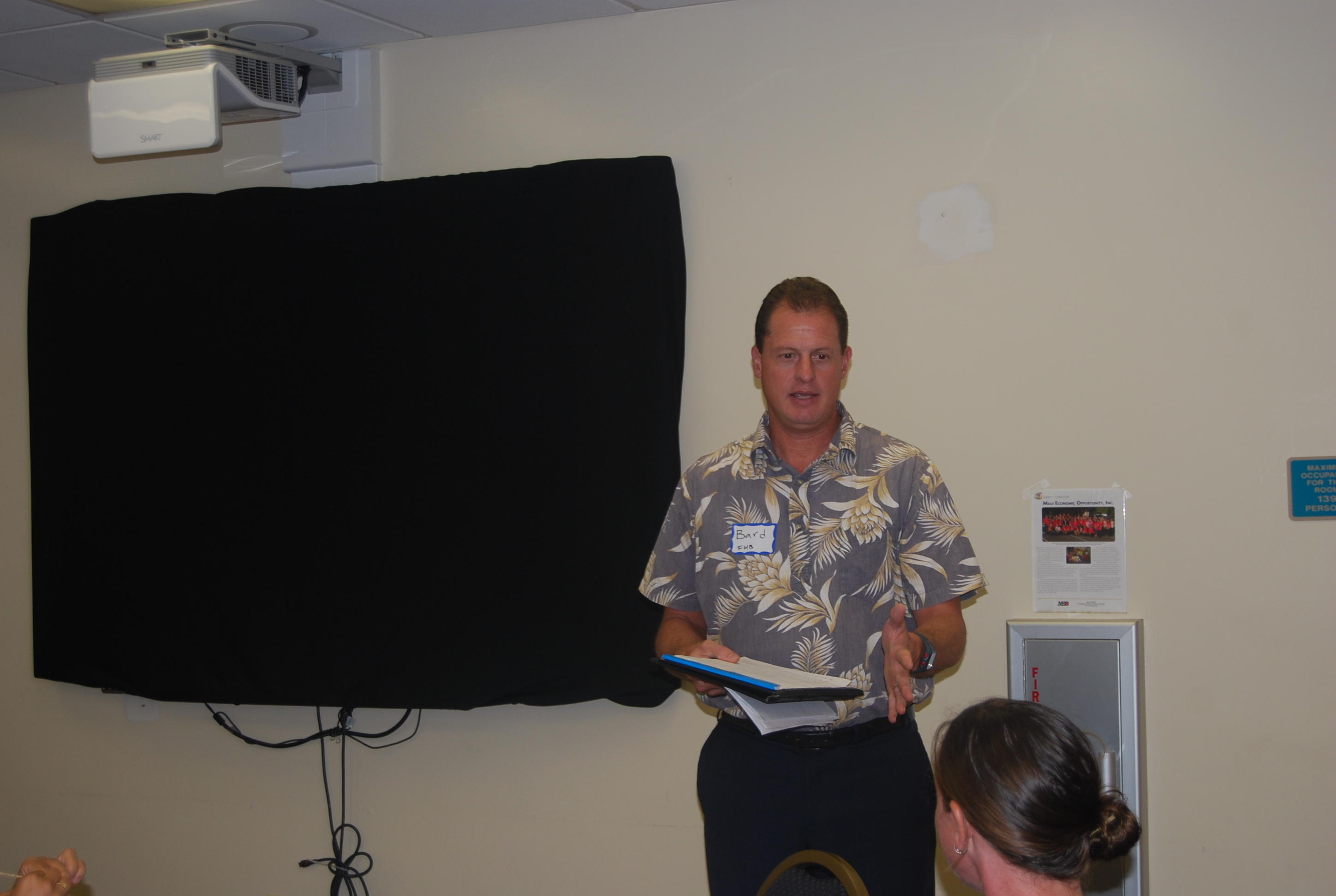 Bard Peterson, vice president, First Hawaiian Bank and MEO BDC Committee member. MEO photo.
