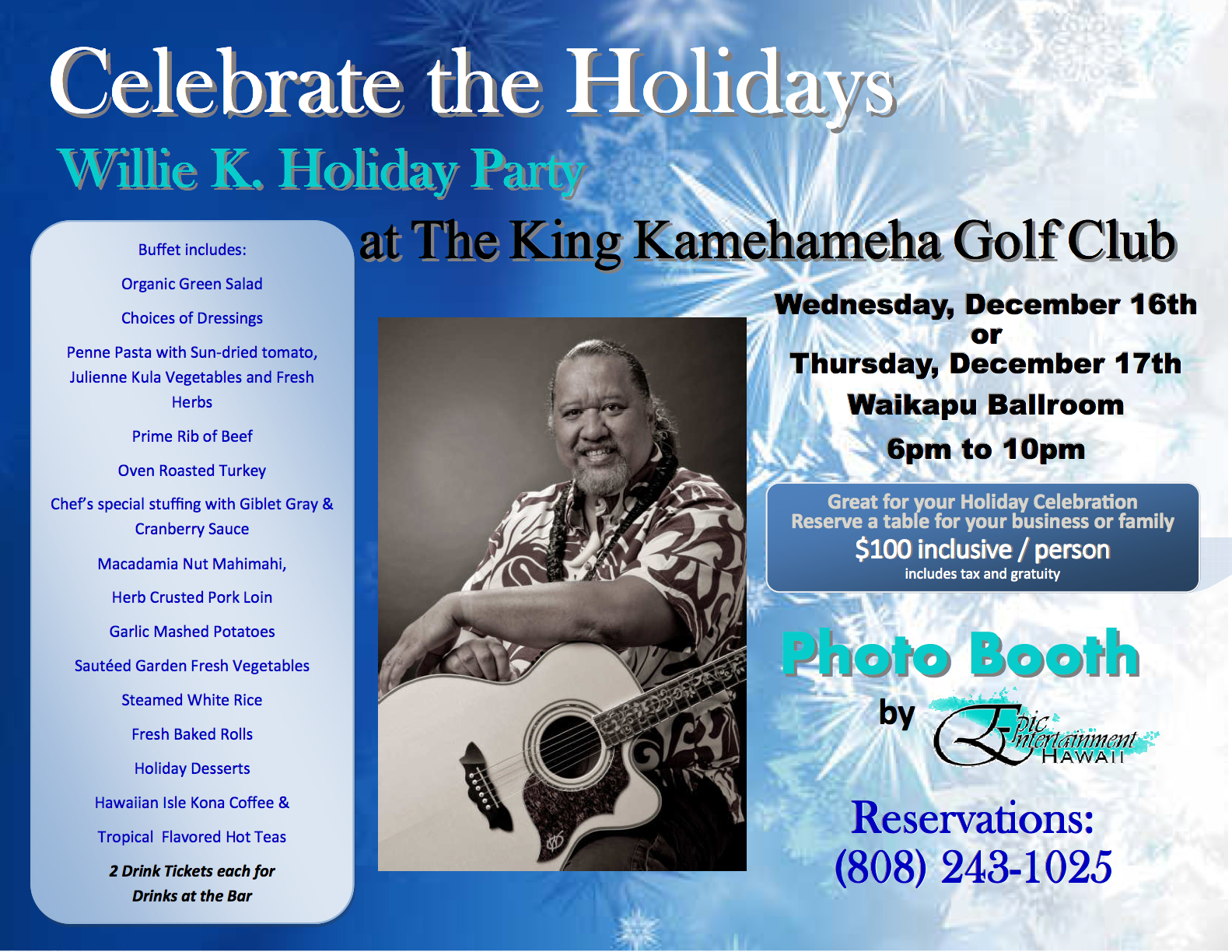 Willie K Holiday Party 2015